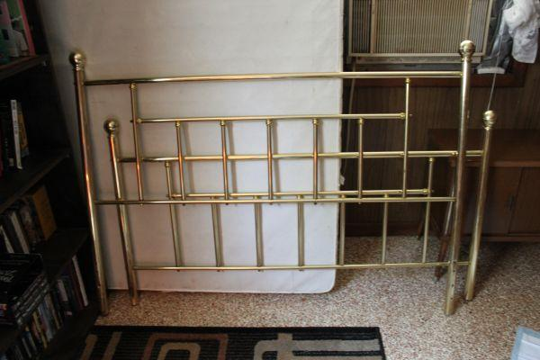 Vintage Queen Brass Bed Frame South Augusta For Sale