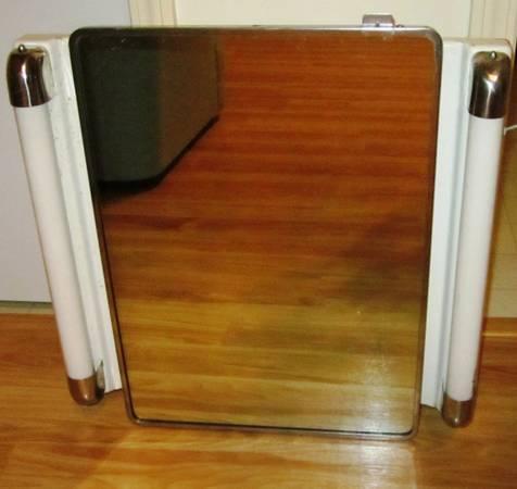 Vintage Retro 50's Bathroom Medicine Cabinet Cuboard w/ - Vintage Retro 50's Bathroom Medicine Cabinet Cuboard W/ Mirror