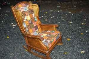 Vintage Retro Rocker Bassett Rocking Chair Bellingham For Sale