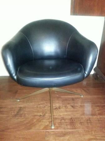 Vintage Retro Viko Baumritter Swivel Chair With Original