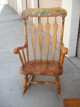Vintage Rocking Chair Estate Sale Excellent Condition Kids Chair
