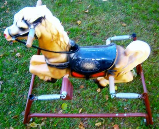vintage rocking horse - $65