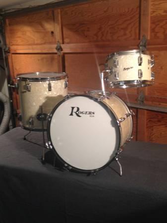 Vintage Rogers 1964 Wmp 3 Piece Kit 12 16 20 Bass Drum