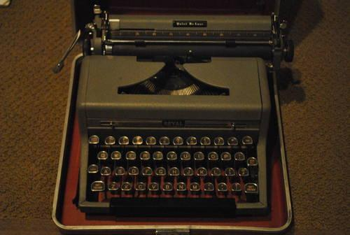 Vintage Royal Quiet Deluxe Typewriter Manual With Glass