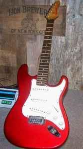 vintage samick electric guitar model ls11mr metallic red little falls ny for sale in utica. Black Bedroom Furniture Sets. Home Design Ideas