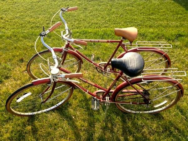 Vintage Sears Mens  Womens Matching Bicycles  3 Speed - $180