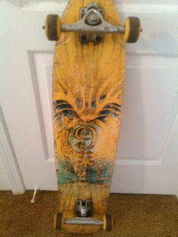 Vintage Sector 9 Long Board Skateboard