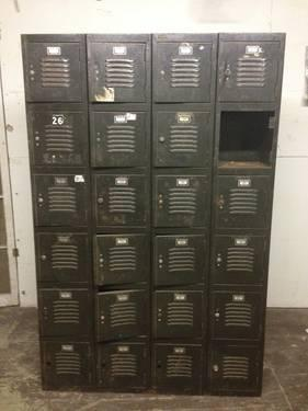 Vintage Set Of Old School Gym Lockers Industrial Decor For