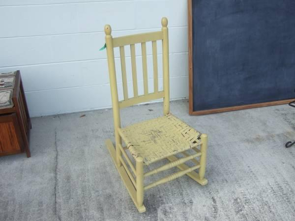 Vintage Shabby Wood Rocking Chair - $45