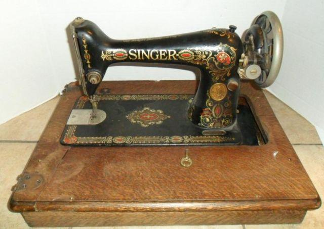 Vintage Singer Sewing Machine Red Eye Circa40 For Sale In Stanton Beauteous Red Eye Singer Sewing Machine