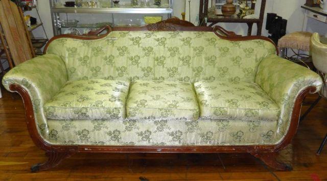 Vintage Sofa Swan S Head Sided Back Claw Feet