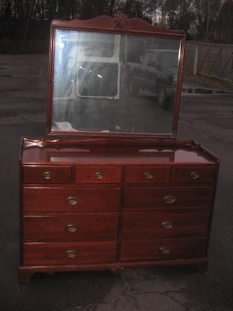 Vintage Solid Cherry Bedroom Set Full Bed By Davis Furniture Co For