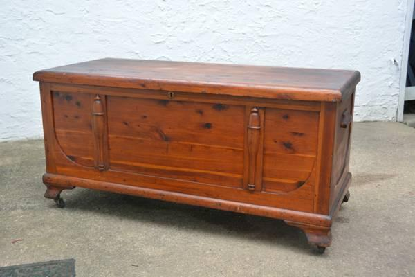 Vintage Solid Red Cedar Hope Chest Trunk With Wheels For Sale In Philadelphia Pennsylvania