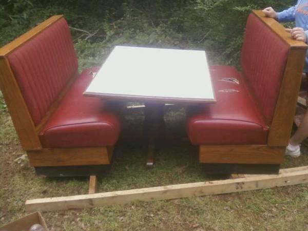Vintage Solid Wood Diner Booth With Super Nice Table For Sale In Van Buren Arkansas