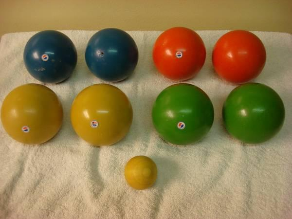 Bocce Ball Lawn Bowling : Vintage Sportcraft Bocce Ball Set Lawn Bowling Made In Italy [1981 for