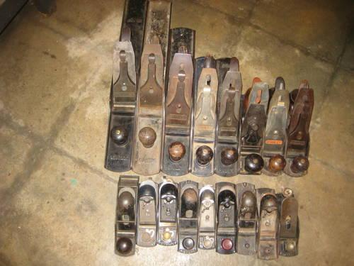 Vintage Stanley Wood Plane Collection and other Tools