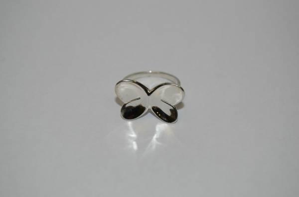 ddb53b69a Vintage Sterling Silver Love Earth Butterfly Ring 4.3 grams Size ...