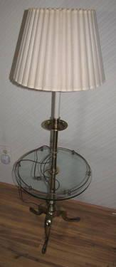 Vintage Stiffel Brass Floor Glass Table Lamp For Sale In Escondido