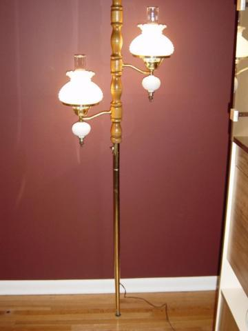 Vintage Tension Pole Lamp Floor To Ceiling