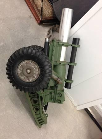 Vintage toy army tank cannon military - $60