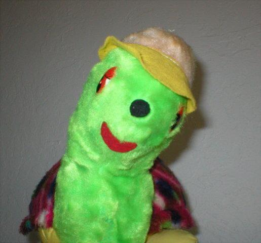 Vintage Toy - Turtle wearing Hat - From 1970's - 14