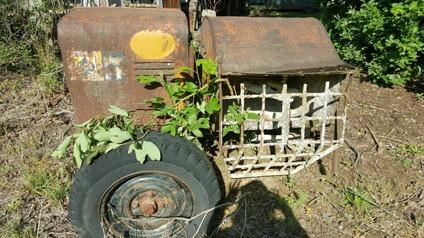 Vintage Tractor and Cement Mixer