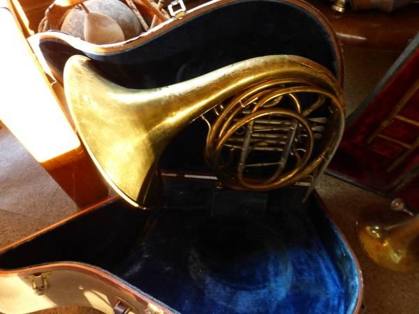 Vintage Trombone and French Horn - $500