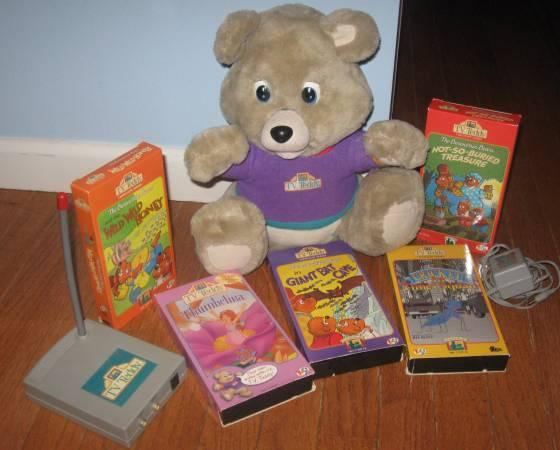 Vintage TV Teddy Interactive Bear - $10