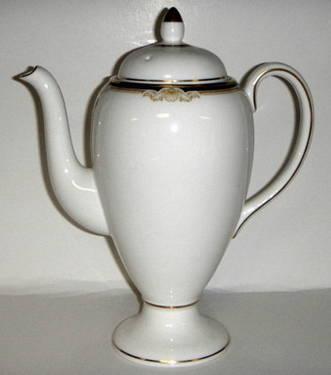 Vintage Wedgwood Cavendish Bone China Coffee Pot-24K Gold Trim-$49