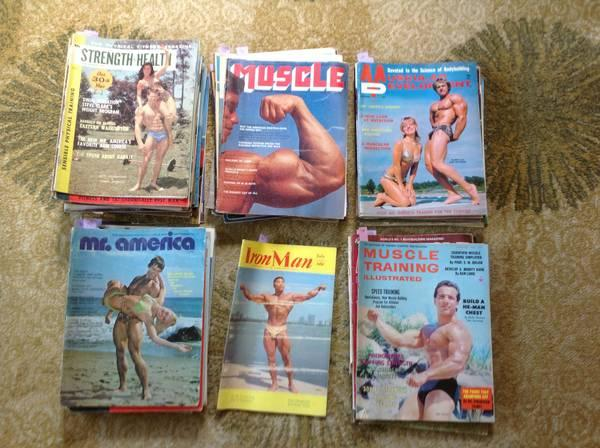 vintage weightlifting magazines - $450