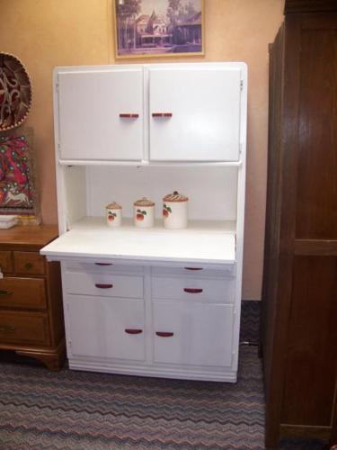 Vintage white enamel kitchen cabinet for sale in faywood for White enamel kitchen cabinets