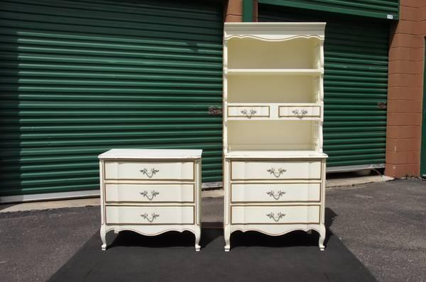 Vintage White French Provincial Girls Chests Dressers And
