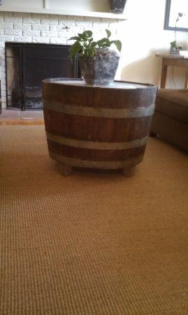 Vintage Wine Barrel Coffee Table - $55 (Golden)