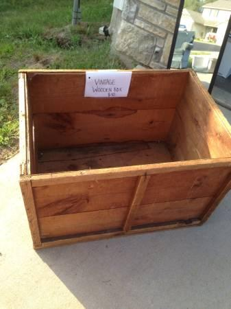 Vintage wood box - $40