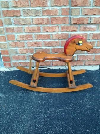 vintage wooden rocking horse for sale in belvidere illinois classified. Black Bedroom Furniture Sets. Home Design Ideas
