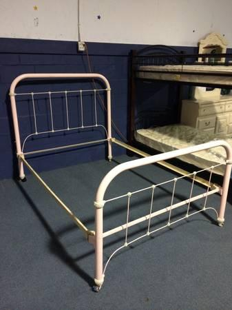 Vintage Wrought Iron Bed Frame - $295