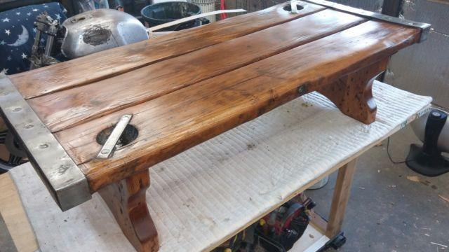 Vintage Ww Ii Liberty Ship Hatch Cover Coffee Table For