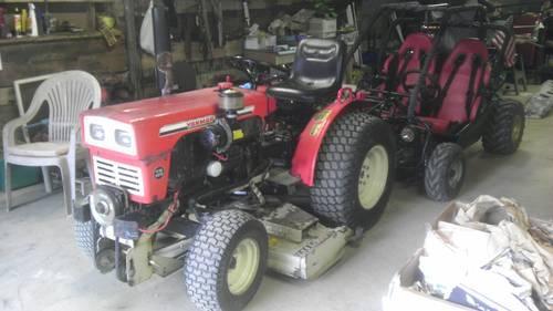 Vintage Yanmar Ym165 Farm Tractor Mower Amp Plow Attachments