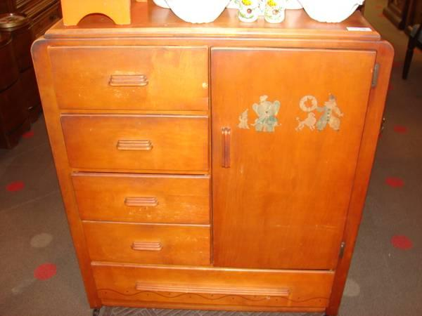 Vintage Youngsters Chifferobe Cabinet Wardrobe For Sale