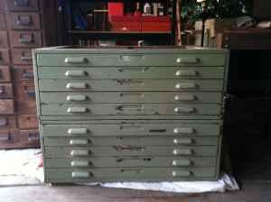 Vintage Architect File Cabinets Art Storage Supplies 175 Peoria Il