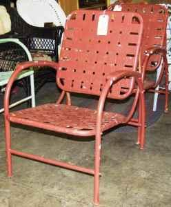 Vintage Metal Strap Porch Lawn Chair Kutztown For Sale In Allentown Pennsylvania Classified
