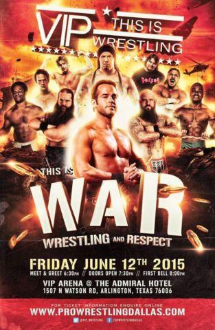 VIP WRESTLING returns to Arlingotn,TX FRI JUNE 12th