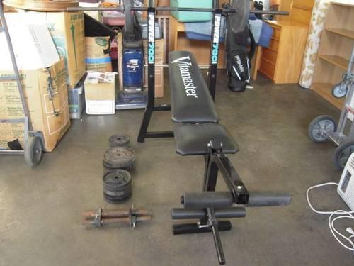 Vitamaster Power 700 Weight Bench With Weights And Bar For Sale In Larchland Illinois