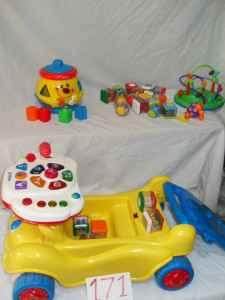 Vtech ridable toy (lights up and makes sound) - $25