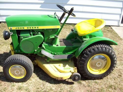 Vtg Restored John Deere 110 Round Fender Lawn Tractor With 38 Deck