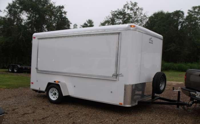 Vvn wonderful 7x12 sa concession enclosed trailer 585 for Trailer rental savannah ga