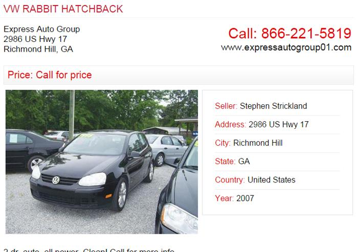 Buy A Car Richmond Hill Ga