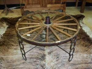 WAGON WHEEL TABLE   $495 (TOMBALL)