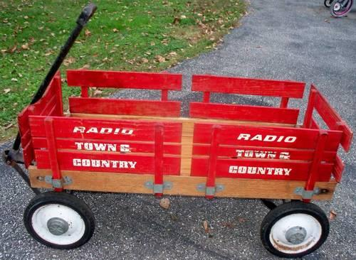 WAGON - Radio Flyer - Town and Country - WOODEN for Sale ...