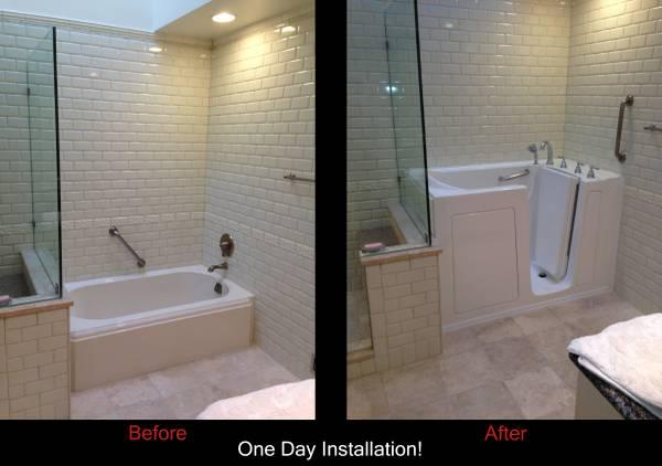 Walk In Bathtubs Showers One Day Installation SENIOR MODIFICATIONS For Sa